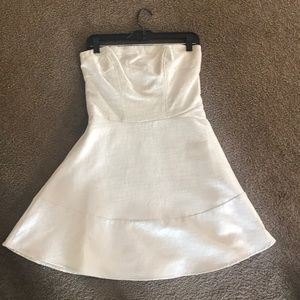 Express silver cocktail/semi-formal dress